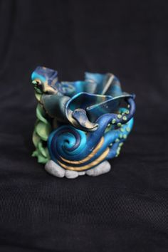 Abstract Octopus Polymer Clay Vase