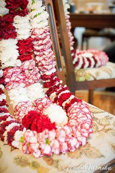 Indian Wedding- flower garlands    A Night in Bloom