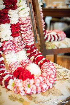 Indian Wedding- flower garlands    A Night in Bloom