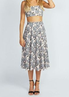 50 Lovely, Ladylike Midi Skirts—All For Under $50! nice print