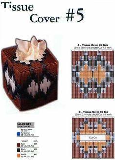 Plastic Canvas Tissue Boxes, Plastic Canvas Crafts, Plastic Canvas Patterns, Tissue Box Covers, Tissue Holders, Kleenex Box, Native Design, Bargello, Stuffed Animal Patterns