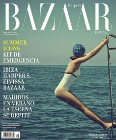 Then followed that beautiful season… Summer….Filled was the air with a dreamy and magical light; and the landscapeLay as if new created in all the freshness of childhood. - Henry Wadsworth Longfellow Photo of cover of June 2014 issue of Harper's Bazaar Espana.