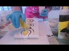 28x80 Huge Acrylic pour - YouTube
