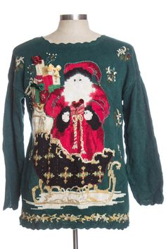 This sweater is classic! Large knit santa!