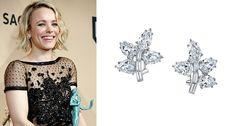 Rachel McAdams of Spotlight donned Harry Kotlar's diamond cluster earrings.