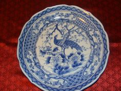 Vintage serving plate with Peacock with by catherinefarrens, $7.99