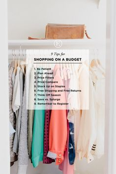 How to Shop on a Budget #theeverygirl