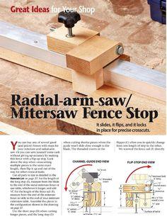 #2685 Miter Saw Stop Block - Marking and Measuring Miter Saw