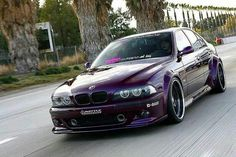 BMW E39 M5 purple