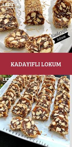 Kadayıflı Lokum – Leziz Yemeklerim – Keto tarifleri – The Most Practical and Easy Recipes Turkish Delight, Pastry Art, Types Of Cakes, Turkish Recipes, Mets, Easy Cake Recipes, Food Design, Food And Drink, Granola