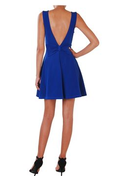 Cutout Fit & Flare - Bow Back Dress