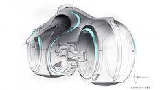 Tron: Legacy Concept Art by Daniel Simon Tron Legacy, Bike Sketch, Car Sketch, Motorcycle Design, Bike Design, Tron Light Cycle, Concept Motorcycles, Industrial Design Sketch, Modelos 3d