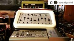 #tbt That time we had these three all for sale at the same time. All now long gone (but we have another Binson coming through reconditioning soon - get in touch if you want to know more about it...)  Roland TB-303; @origineffects #cali76; EMS Synthi HiFli; Binson Echorec 2 T7E. You can't see the twin foot pedals for the HiFli - I'm pointing at the section being swept...