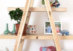 A Pair & A Spare   DIY Ladder Shelves