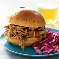 Pulled Jerk Pork with Carolina Barbecue Sauce (maybe sub honey for sugar in sauce??)