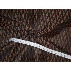 Silk Brocade, Black And Brown, Fabric, Accessories, Women, Fashion, Tejido, Moda, Women's