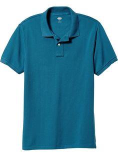 Men's Short-Sleeve Pique Polos