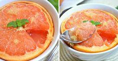 Grapefruit pečený s medom a zázvorom