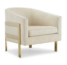AVERY CHAIR POLISHED BRASS <BR>[available online and in stores]