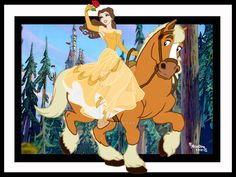 Belle [feat. Philippe] (Horses by Rob32 @deviantART) #BeautyAndTheBeast