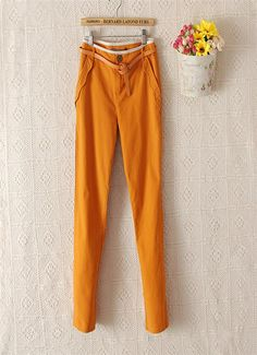 Fashion #OL Style #Casual Pencil Pants, office ladies needs.
