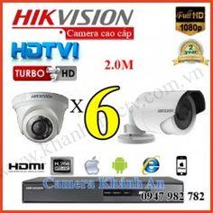 Lắp đặt trọn gói 6 camera HIKVISION 2.0M 1080P