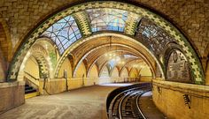 Guastavino Tile Arches in City Hall Subway and Ellis Island Photos | Architectural Digest