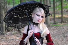 Gothic Lace Choker with Black Teardrops and by NocturneHandcrafts