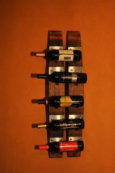 Wine Rack Five Bottle From Napa Valley Red Wine Barrel Staves image 1