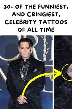 """Just because celebrities have access to the best tattoo artists in the world doesn't mean they aren't going to make lousy ink decisions. While they have teams of people to help them keep a positive appearance and reputation, sometimes they decide """"my body, my choice."""" You know what? It makes total sense, but it might have made even more sense to have someone double-check just in case. Casual Outfits, Fashion Outfits, Fashion Tips, Dinner Outfits, Fall Outfits, Barcode Tattoo, Baby Hamster, Baby Cats, Just In Case"""