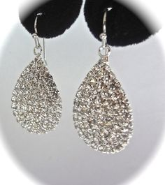 SALE Rhinestone earrings  BLING  Sparkling by QueenMeJewelryLLC, $15.99