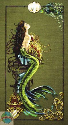 Image detail for -: Counted Cross Stitch Title: Mermaid of Atlantis By: Mirabilia ...