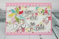 Looking for homemade baby shower ideas? Here's a beautiful baby shower card for the beautiful expecting mother.
