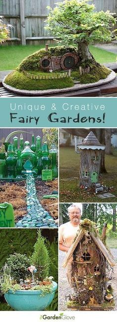 Unique and Creative Fairy Gardens • Lots of Tips and Ideas! #miniaturefairygardens #creativecrafttips