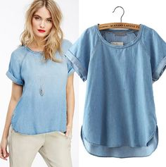I previously owned a shirt exactly like this. It was a favorite because it was surprisingly flattering. Would love another if possible! In any color except warm tones or grey.