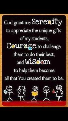 Prayer of a teacher...