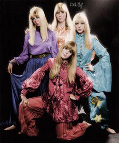 Beatle Girls. Apple Boutique. 1967. Pattie Boyd, Cynthia Lennon, Maureen Starkey, and Jenny Boyd.