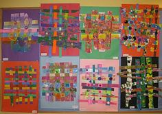 """Make two 18x24"""" abstract paintings.  Cut into strips and weave together!"""