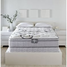 Traditional Serta quality meets innovative excellence in the Perfect Sleeper Dovington 2 Euro-top full mattress set. With 987 individually wrapped coils, your body is cradled in perfect alignment as you sleep. A unique gel foam layer contours to your figure and allows maximum air flow, keeping you at the ideal temperature no matter the weather. Both versatile and luxurious, the Dovington works with most types of adjustable beds for versatile use in your home.