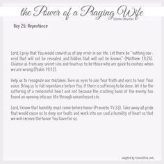 Power of a Praying Wife / Parent