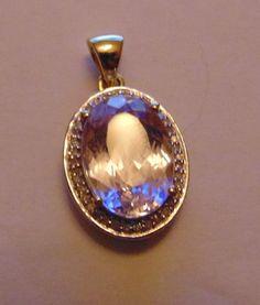 Catawiki Online-Auktionshaus: Kunzitanhänger mit 38 Diamanten, 585/1000 Pocket Watch, Bracelet Watch, Watches, Bracelets, Accessories, Lilac, Rhinestones, Auction, Watch