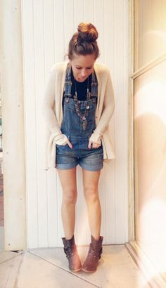 boyfriend overalls - love this entire outfit, must recreate! #freepeople #fpme #overalls