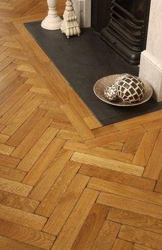 Oak Aged Parquet Block, Solid 280 x 70 x 20 mm