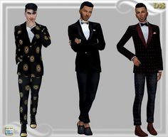 Mens jacket and pants at Dreaming 4 Sims via Sims 4 Updates