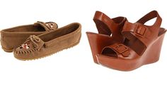 Just got these Minnetonka mocs and Kork-Ease wedges at Zappos!