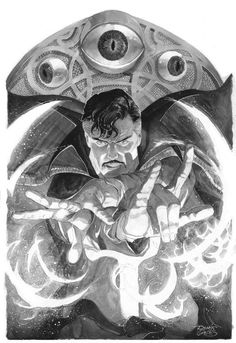 Original Comic Art titled Doctor Strange Genesis of a spell Renato Guedes commission, located in S's Renato Guedes PHANTASMAGORICAL commision Dr. Marvel Doctor Strange, Comic Book Characters, Marvel Characters, Comic Books Art, Marvel Comics Art, Anime Comics, Marvel Heroes, Marvel Avengers, Stargate