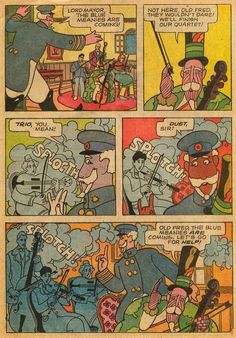 """magictransistor: """" Several illustrated pages drawn from The Beatles Yellow Submarine, Gold Key Comic Book, 1968. """""""