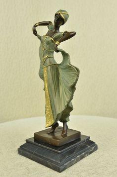 Deco-Chiparus-Dancer-Bronze-Sculpture-Marble-Statue