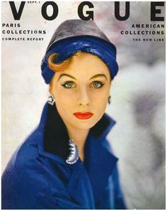 And, of course.... women wore hats in 1952... that's why I'm genetically predisposed towards hats. Photo: Roger Prigent. Suzy Parker, September Vogue, 1952.