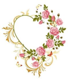 Free downloadable 'Victorian Heart' design with roses / Embroider This!